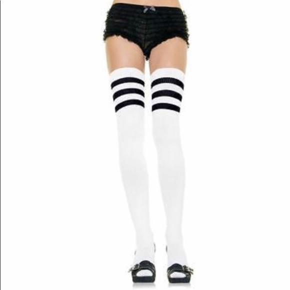 adc419e3694c9b Leg Avenue Accessories | 3 Stripes Athletic Ribbed Thigh Highs ...
